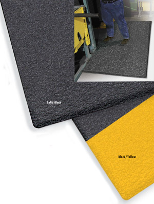 ErgoFlex 1/2 inch thick 2x3 feet Black/Yellow in use