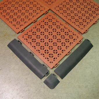 Staylock Floor Tile showing border edge piece.