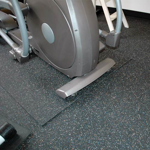 rubber flooring rolls 3/8 inch 10% confetti - gym rubber flooring
