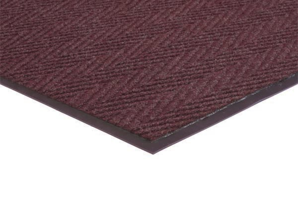 Chevron Rib 2x3 feet Burgundy