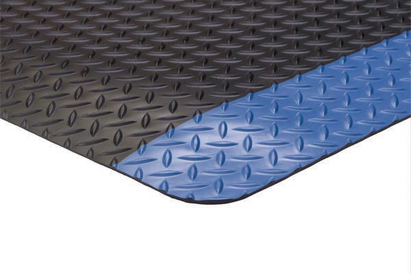 Diamond Foot Colored Borders 2x3 feet Blue
