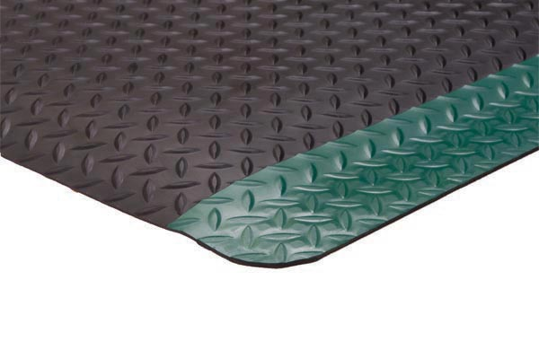 Diamond Foot Colored Borders 2x3 feet Green