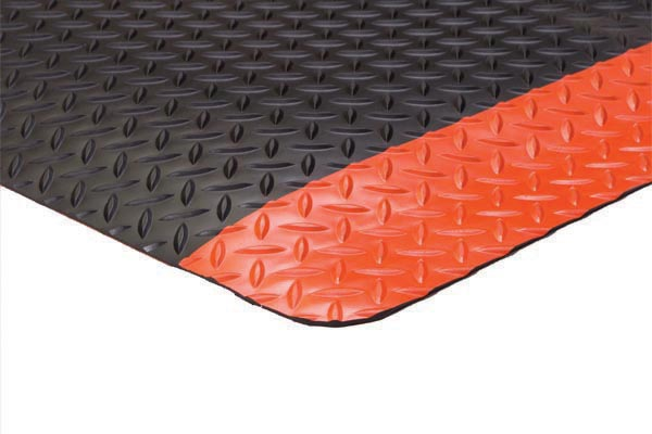 Diamond Foot Colored Borders 2x3 feet Orange