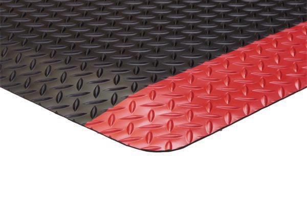 Diamond Foot Colored Borders 2x3 feet Red