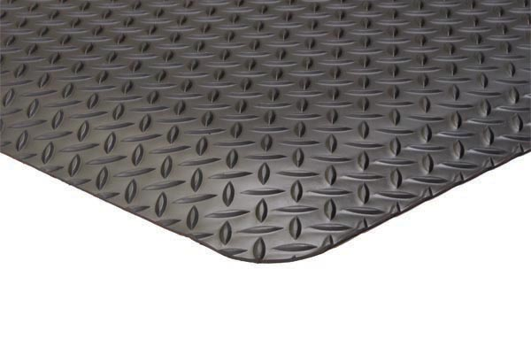 Diamond Foot Solid 3x5 feet Black