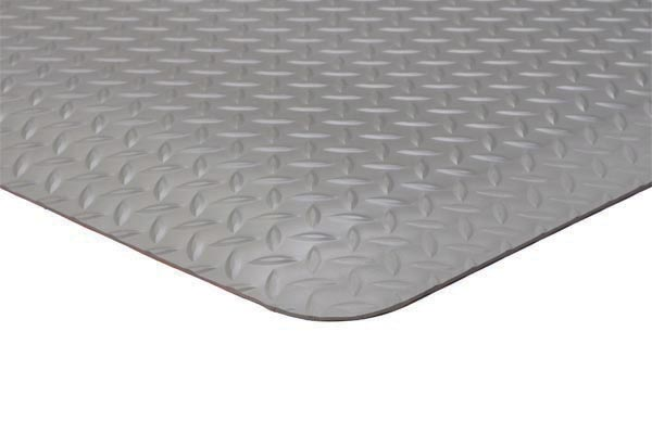 Diamond Foot Solid 3x5 feet Grey