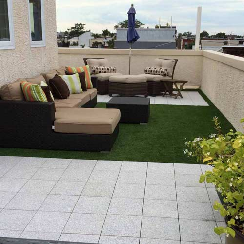 Artificial Grass Turf Tile 1x1 ft 25 mm install.
