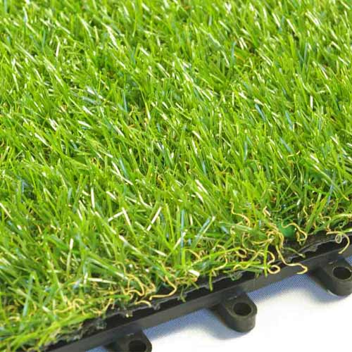 Artificial Grass Turf Tile 1x1 ft 25 mm loops.