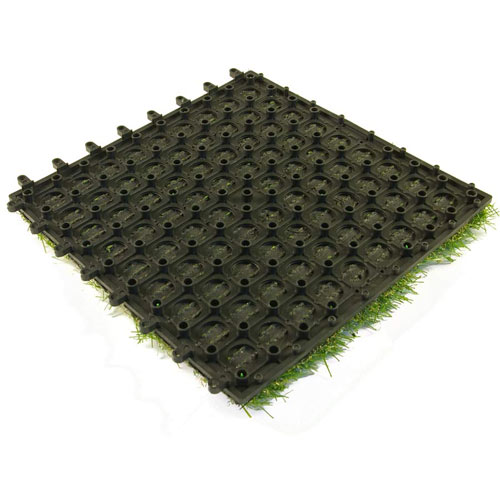 Artificial Grass Turf Tile 1x1 ft bottom.