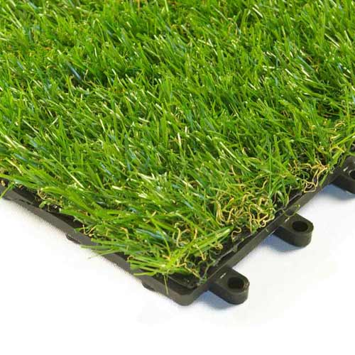 Artificial Grass Turf Tile 1x1 ft 25 mm corner.