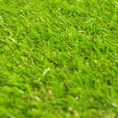 Artificial Grass Turf Tile 1x1 ft 25 mm close up.