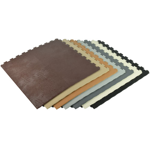 Leather Pvc Floor Tile Homestyle