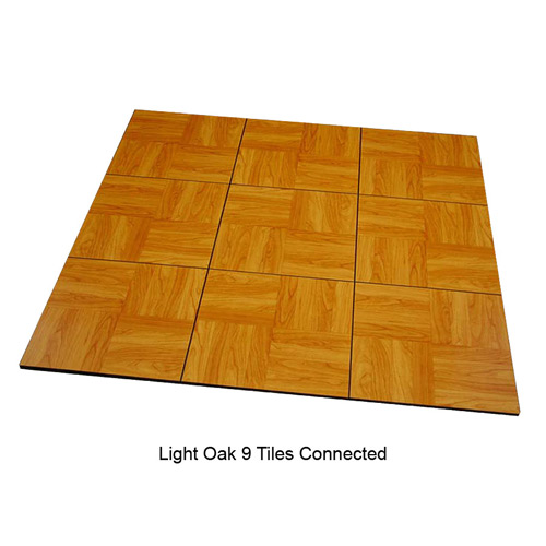 Max Tile Raised Modular Floor Tile 9 tiles together Light Oak.