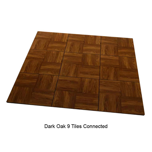 Max Tile Raised Modular Floor Tile 9 tiles together Dark Oak.