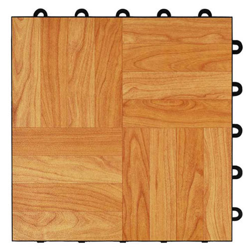 Max Tile Raised Modular Floor Tile light oak tile.