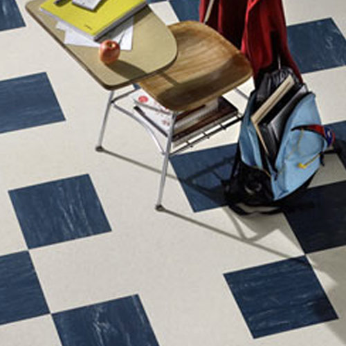 Burke Marble Basement Rubber Flooring Tiles