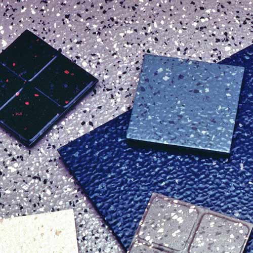 Industrial Rubber Flooring : Endura flecksibles rubber tile commercial floor