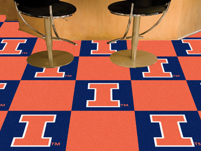 University of Illinois Carpet Tile 18x18 Inches