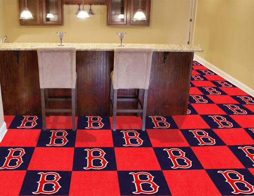 Carpet Tile Mlb Boston Red Sox 18x18 Inches 20 Per Carton
