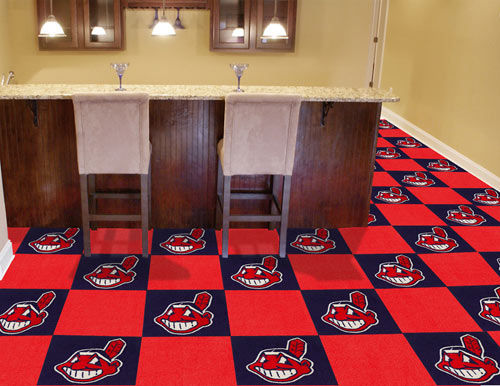 Carpet Tile MLB Cleveland Indians 18x18 Inches 20 per carton