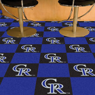 Carpet Tile MLB Colorado Rockies 18x18 Inches 20 per carton
