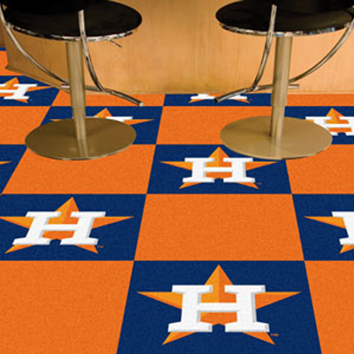 Carpet Tile MLB Houston Astros 18x18 Inches 20 per carton