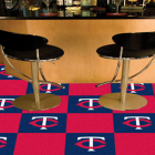 Carpet Tile MLB Minnesota Twins 18x18 Inches 20 per carton