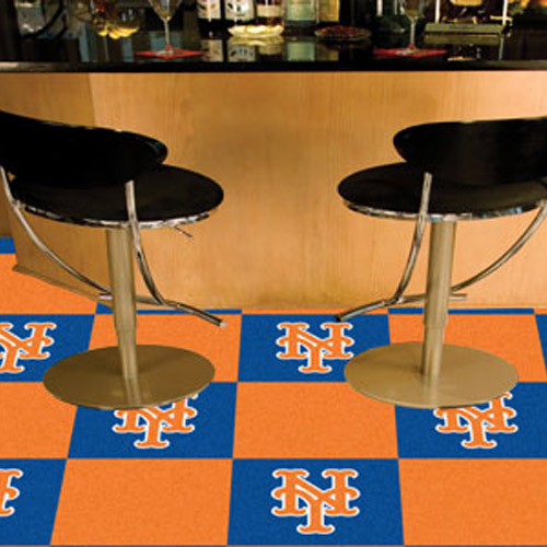 Carpet Tile MLB New York Mets 18x18 Inches 20 per carton