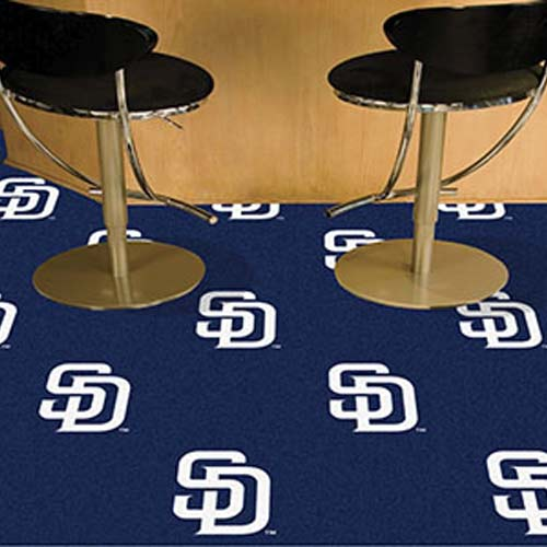 Carpet Tile MLB San Diego Padres 18x18 Inches 20 per carton