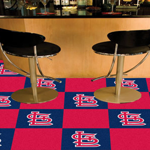 Carpet Tile MLB St. Louis Cardinals 18x18 Inches 20 per carton
