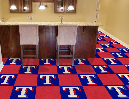 Carpet Tile MLB Texas Rangers 18x18 Inches 20 per carton