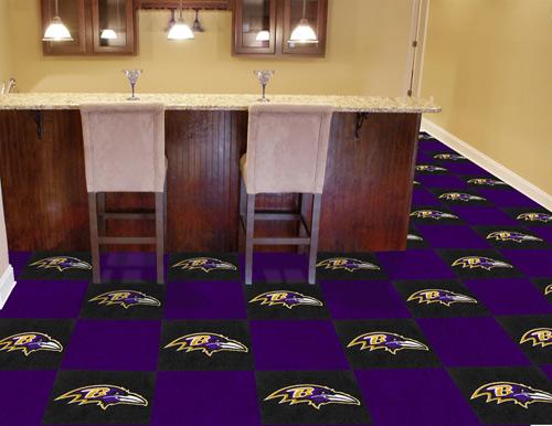 NFL Baltimore Ravens 18x18 Carpet Tile