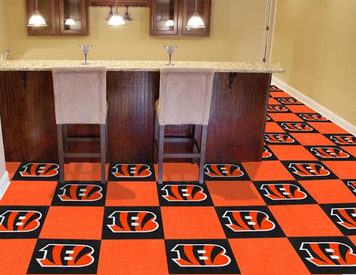 Nfl Cincinnati Bengals Carpet Tile Carpet Tiles 18x18 Inches