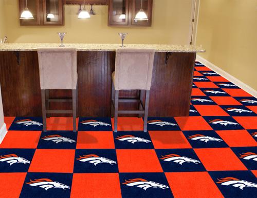 NFL Denver Broncos 18x18 Carpet Tile