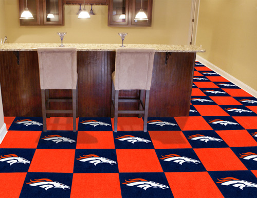nfl denver broncos carpet tile - carpet tiles 18x18 inches