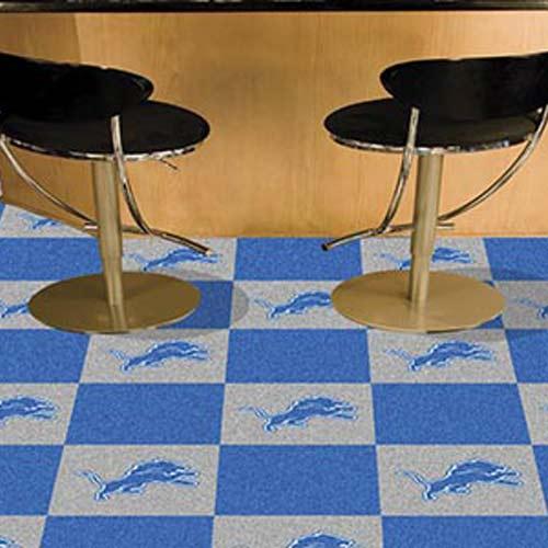 Fabulous Carpet Tile Nfl Detroit Lions 18X18 Inches 20 Per Carton Download Free Architecture Designs Sospemadebymaigaardcom