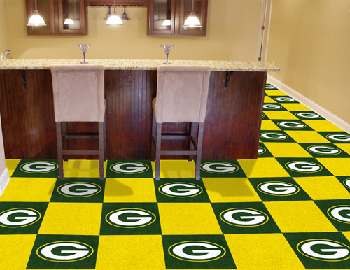 Nfl Green Bay Packers Carpet Tile Carpet Tiles 18x18 Inches