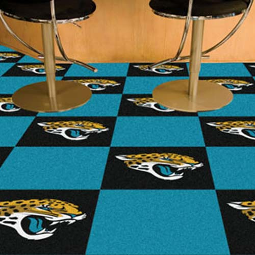 Nfl Jacksonville Jaguars Carpet Tile Carpet Tiles 18x18