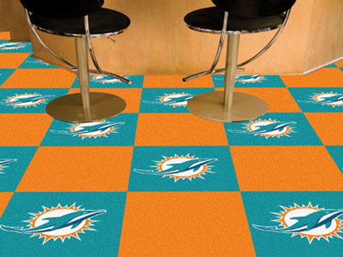 NFL Miami Dolphins Carpet Tile Carpet Tiles X Inches - Discount tiles miami