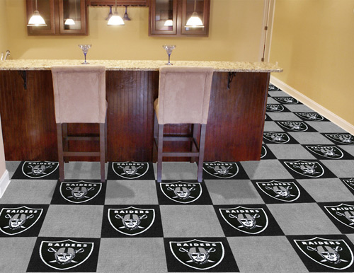 NFL Oakland Raiders 18x18 carpet tile