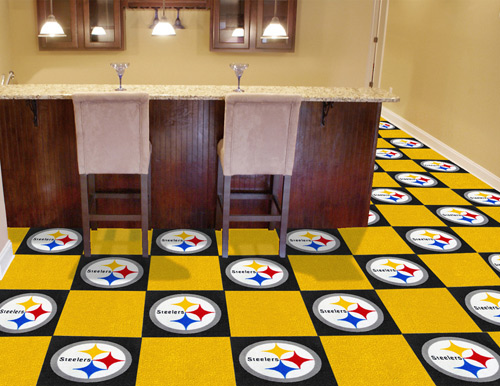 NFL Pittsburgh Steelers 18x18 carpet tile