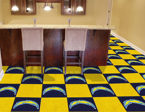 NFL San Diego Chargers 18x18 carpet tile