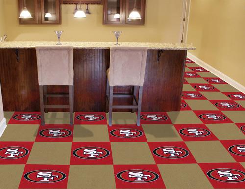 Nfl San Francisco 49ers Carpet Tile Carpet Tiles 18x18 Inches