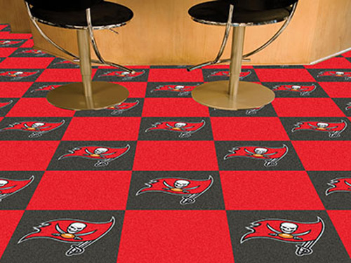 Carpet Tile NFL Tampa Bay Buccaneers 18x18 Inches 20 per carton