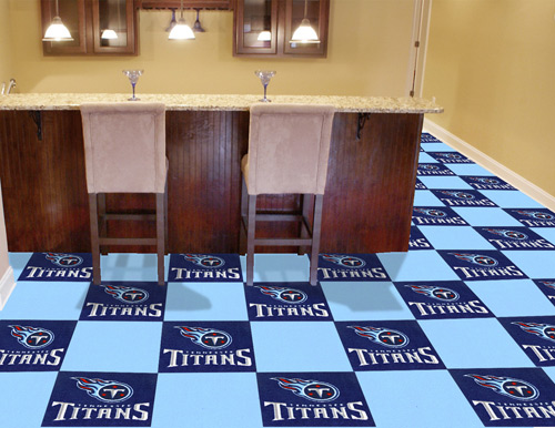 NFL Tennessee Titans 18x18 carpet tile