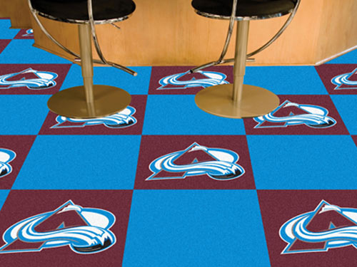 Carpet Tile NHL Colorado Avalanche 18x18 inches 20 per carton