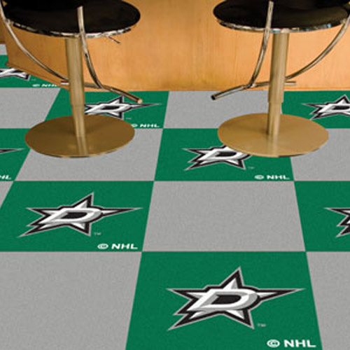 Carpet Tile NHL Dallas Stars 18x18 inches 20 per carton