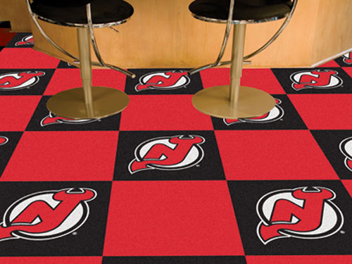 Carpet Tile NHL New Jersey Devils 18x18 inches 20 per carton