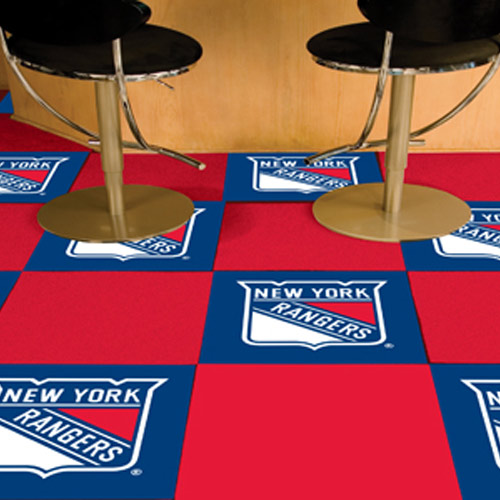 Carpet Tile NHL New York Rangers 18x18 inches 20 per carton