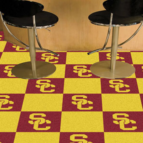 University of S. California Carpet Tile 18x18 Inches